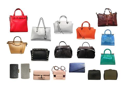 Variety type of lady's handbag