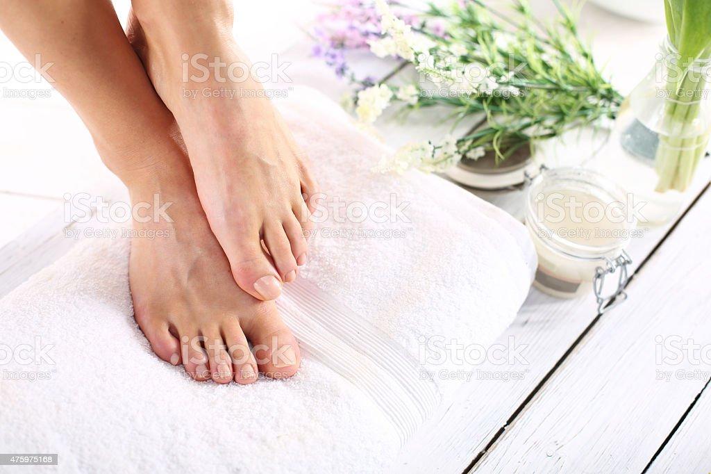 Women's feet stock photo