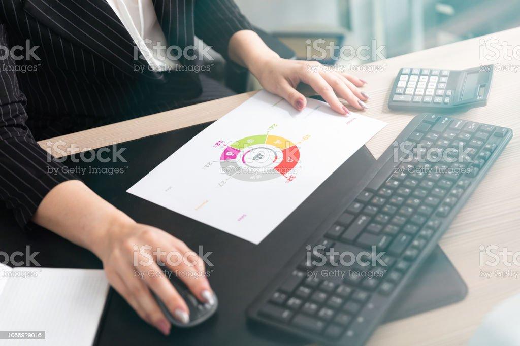 Frauenhand Auf Den Desktophintergrund Ein Junges Madchen Im Buro Am Computer Schreibtisch Stockfoto Und Mehr Bilder Von Anmut Istock