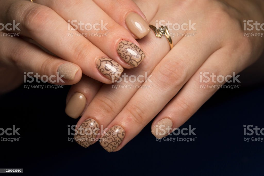 Womens Hands With A Stylish Manicure Stock Photo   More Pictures of ... c2b69f08d