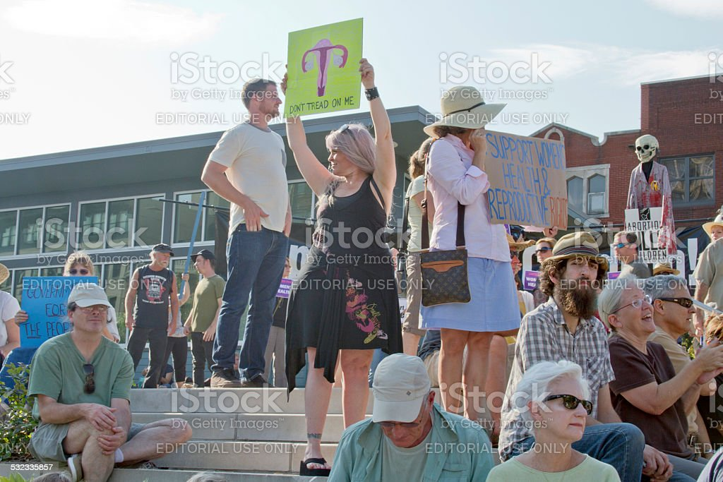 Womens Health Care Protest stock photo