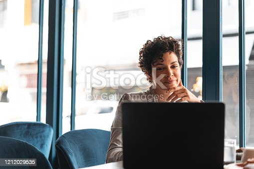 computer, working, woman, planning, concentration