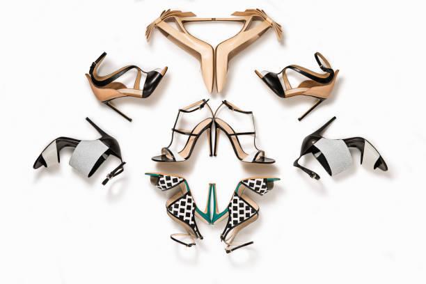 de luxo sapatos de salto altos feminino - moda de calçados - fotografias e filmes do acervo