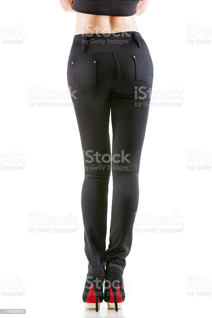 Women's pants, back royalty-free stock photo