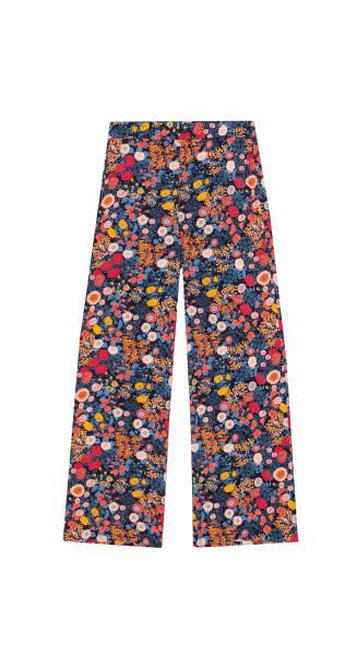 damenhosen, floral gemusterte - hippie kleider stock-fotos und bilder