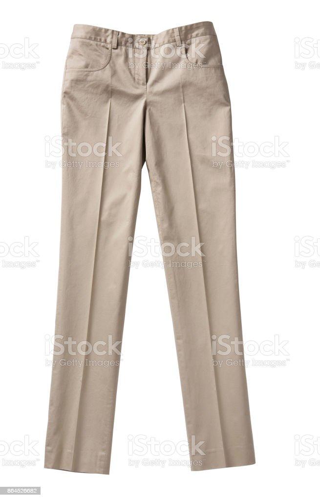 Damen Hose isolierten auf weißen Hintergrund – Foto