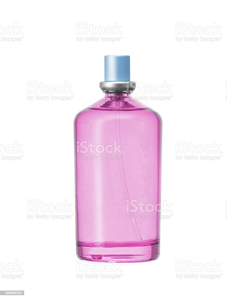 women's perfume in beautiful bottle isolated on white royalty-free stock photo