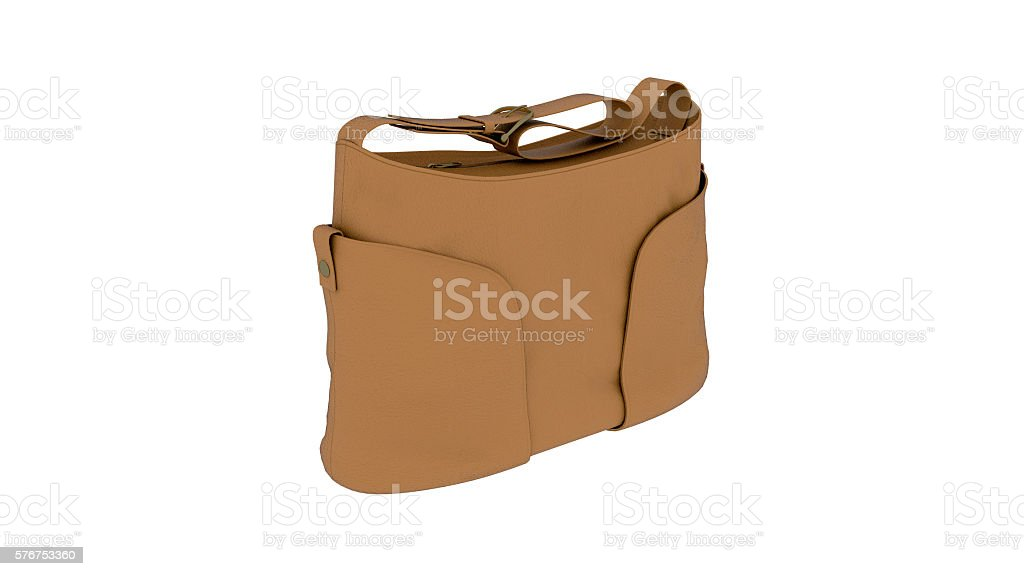 f768382755 Womens Purse Brown Leather Handbag Isolated On White Background ...