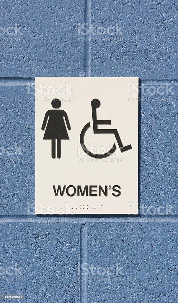 Womens' Room royalty-free stock photo