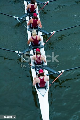 istock Women's Rowing From Above 183258372