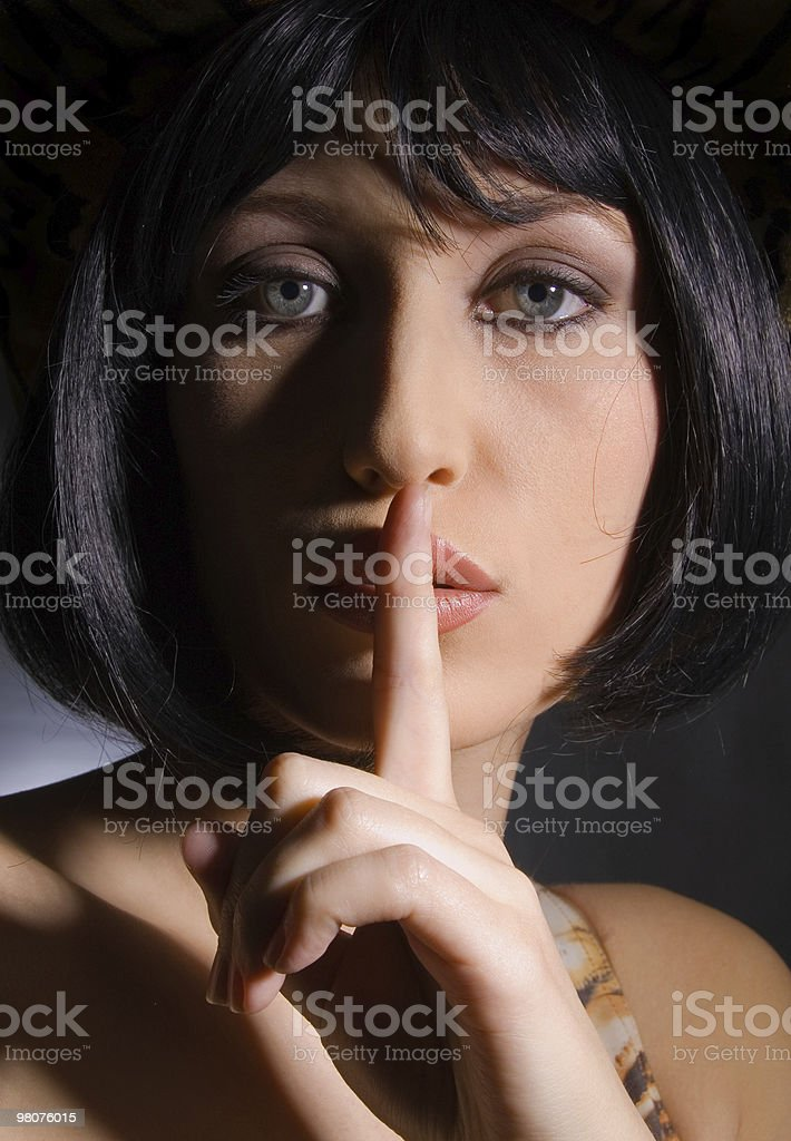 Donna s secret foto stock royalty-free