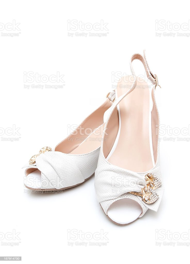 Women's shoes isolated on white background royalty-free stock photo