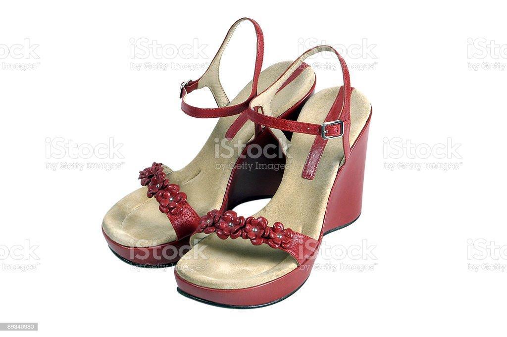 3baf9fcc2ea2d Womens Shoes Red Vintage Pumps On White Stock Photo - Download Image ...