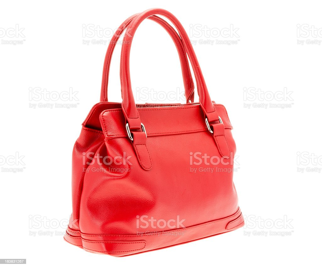 Women's Small Red Handbag Purse stock photo