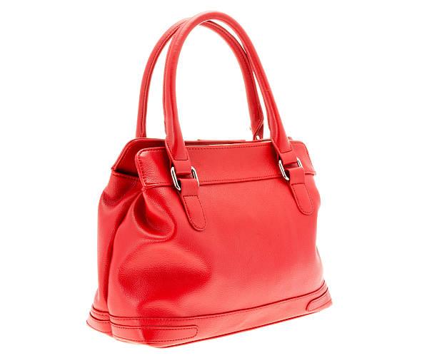 women's small red handbag purse - handtas stockfoto's en -beelden