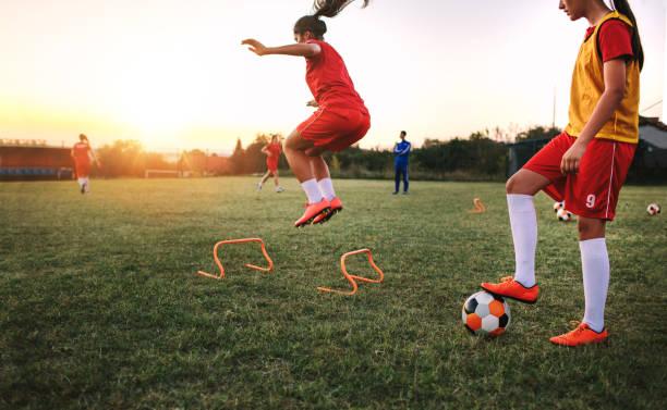 Women's Soccer Team stock photo