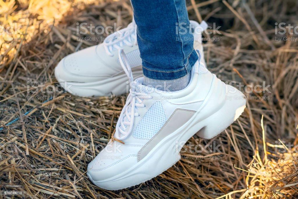 Women's sport sneakers stock photo
