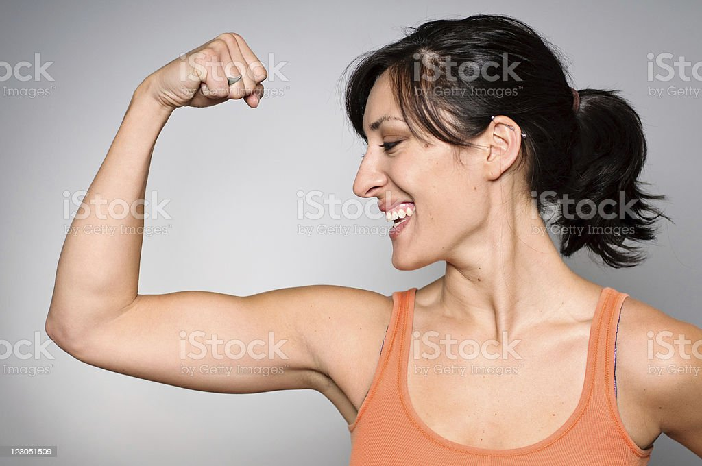 Women's Strength/Fitness royalty-free stock photo