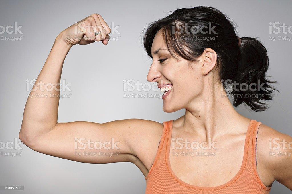 Mujer de ejercicios de resistencia / - foto de stock