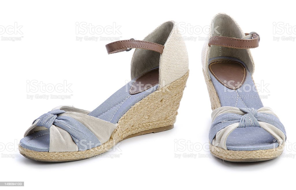 Women's summer shoes isolated stock photo