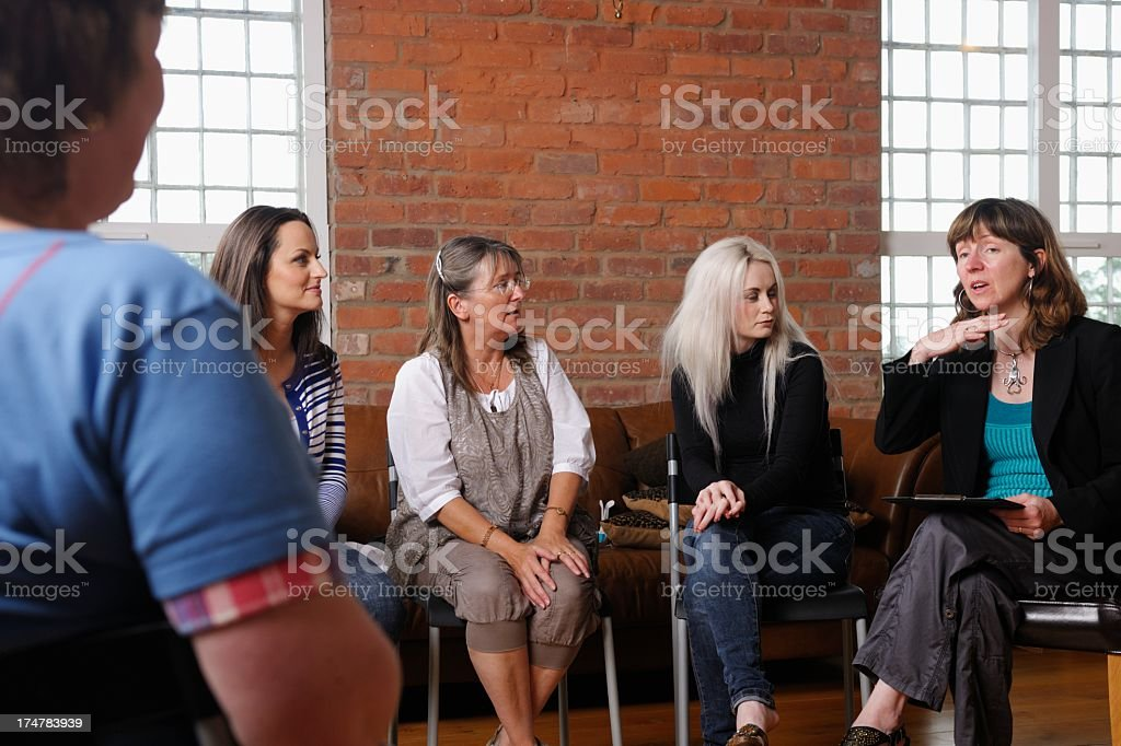 Women's Support Group royalty-free stock photo