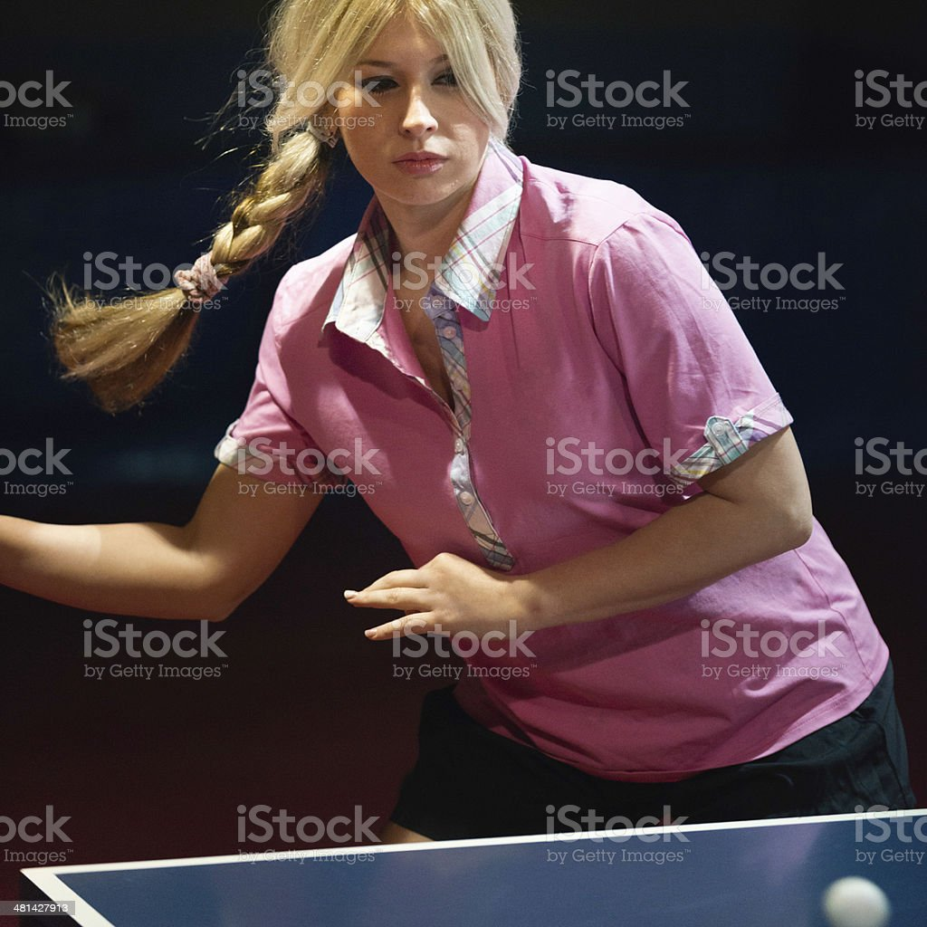 Women's table tennis royalty-free stock photo