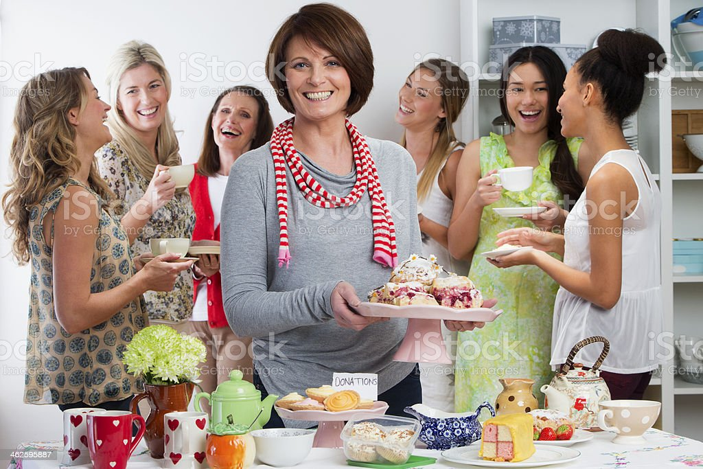 Womens Tea Party stock photo