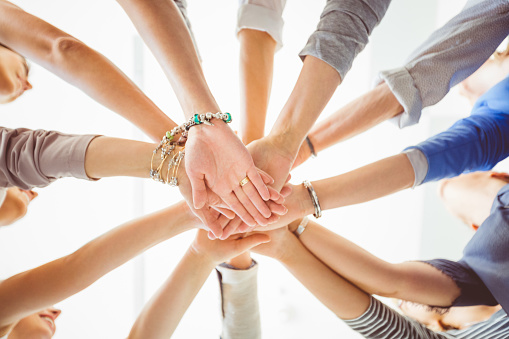 Womens Team Group Of Women Holding Hands Stock Photo - Download Image Now