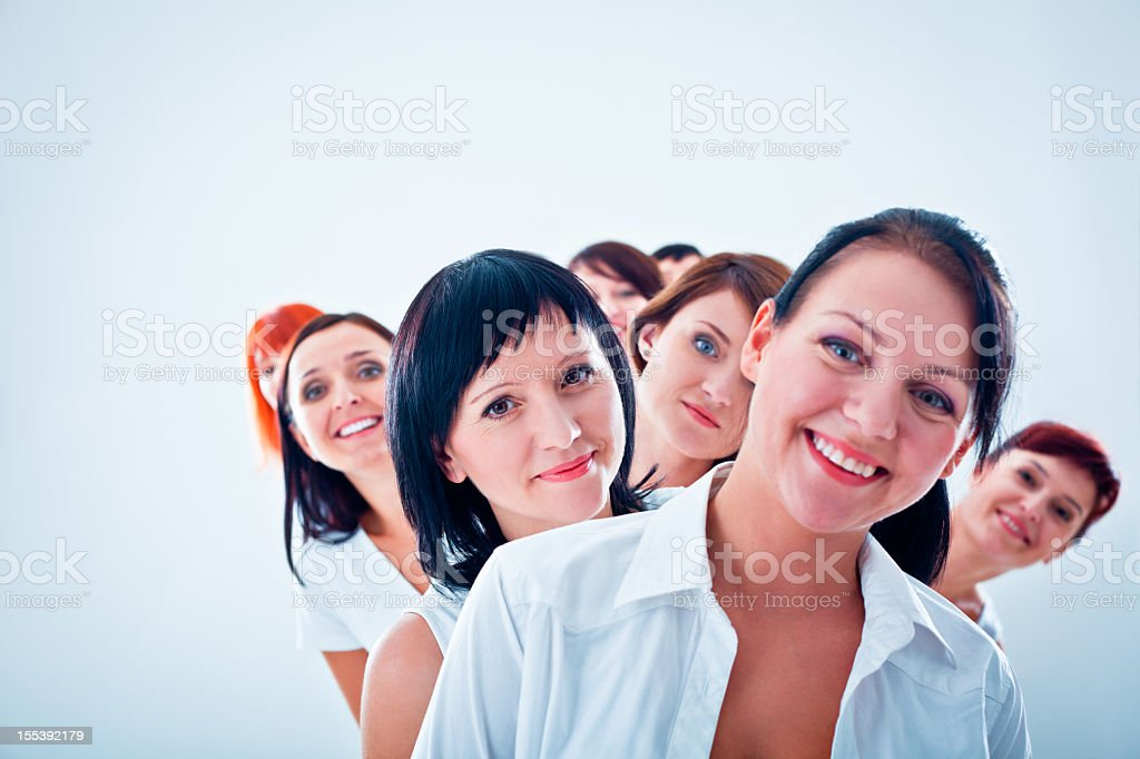 Women's team stock photo