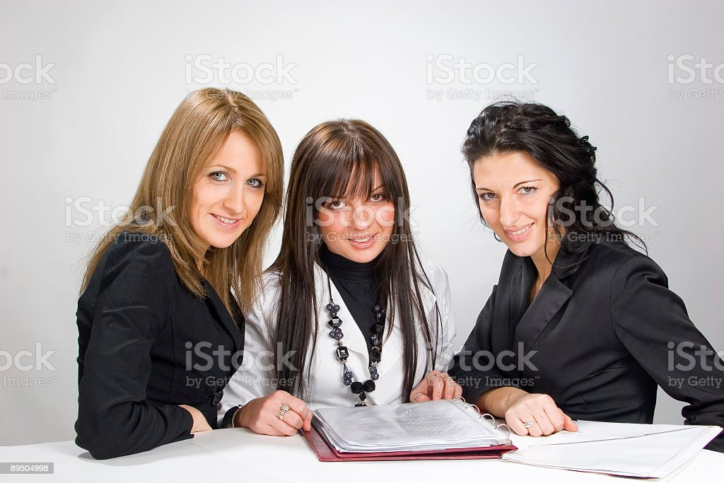 women's teamwork royalty-free stock photo