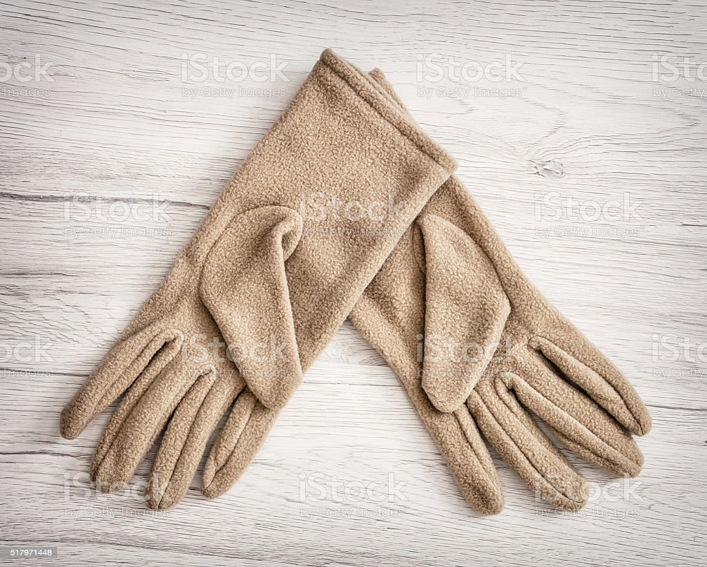 Women's textile gloves, beauty and fashion stock photo