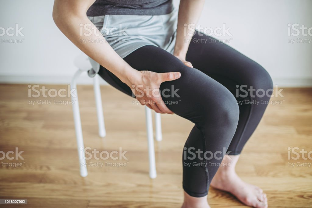 Women's thighs pain stock photo