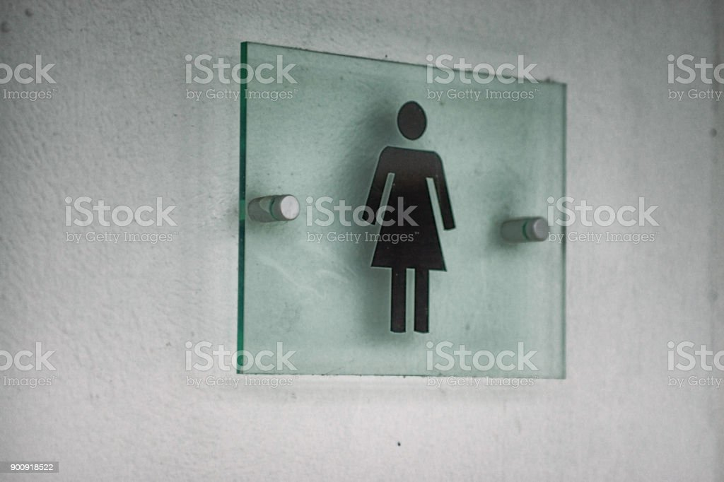 Women's toilet sign stock photo