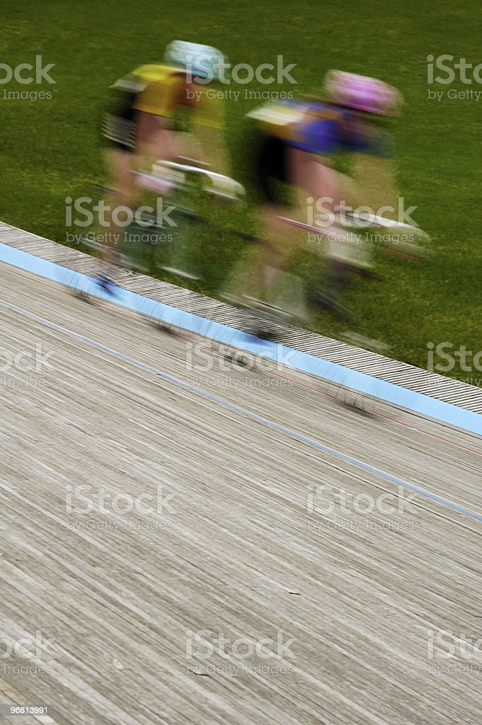 Women's Velodrome Cycling - Motion Blur stock photo