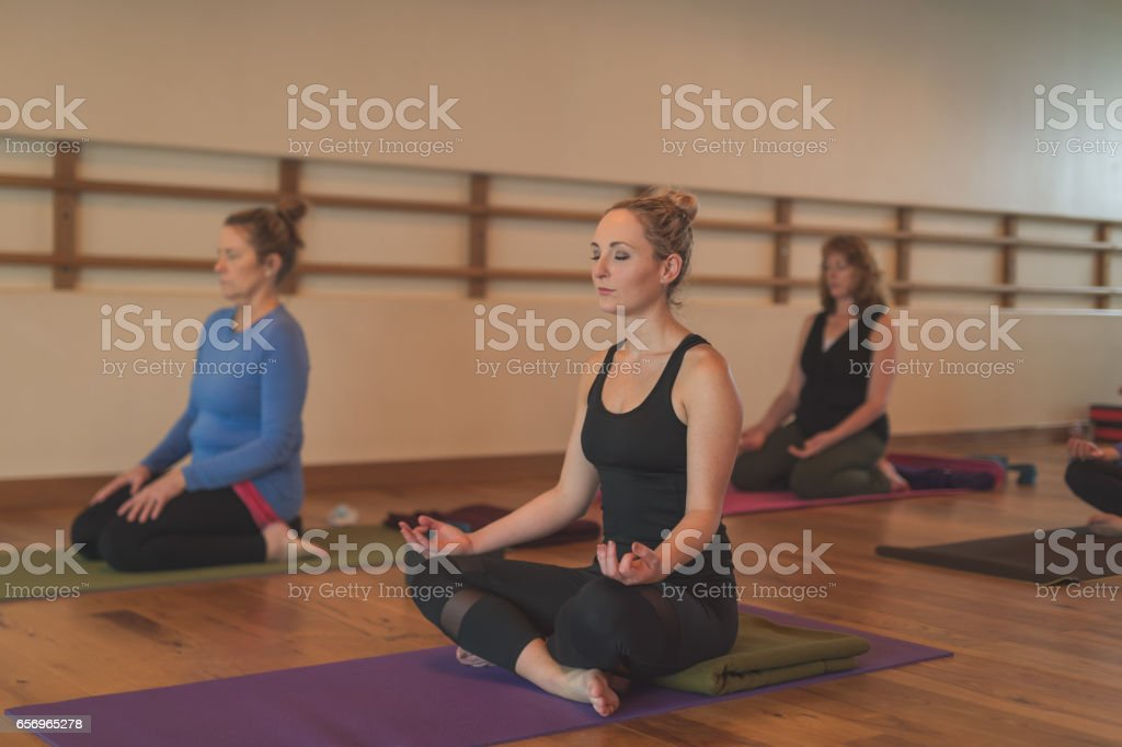 Women's Yoga Studio stock photo