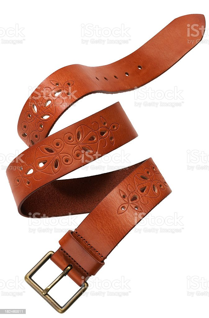 Womens-Leather belt royalty-free stock photo