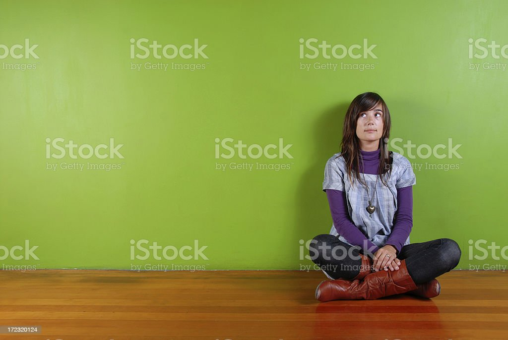 Wonder Girl Looking Stage Right royalty-free stock photo