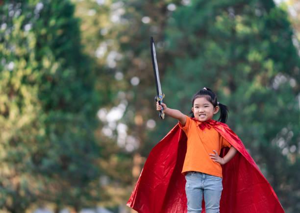 wonder girl - superwoman barn bildbanksfoton och bilder