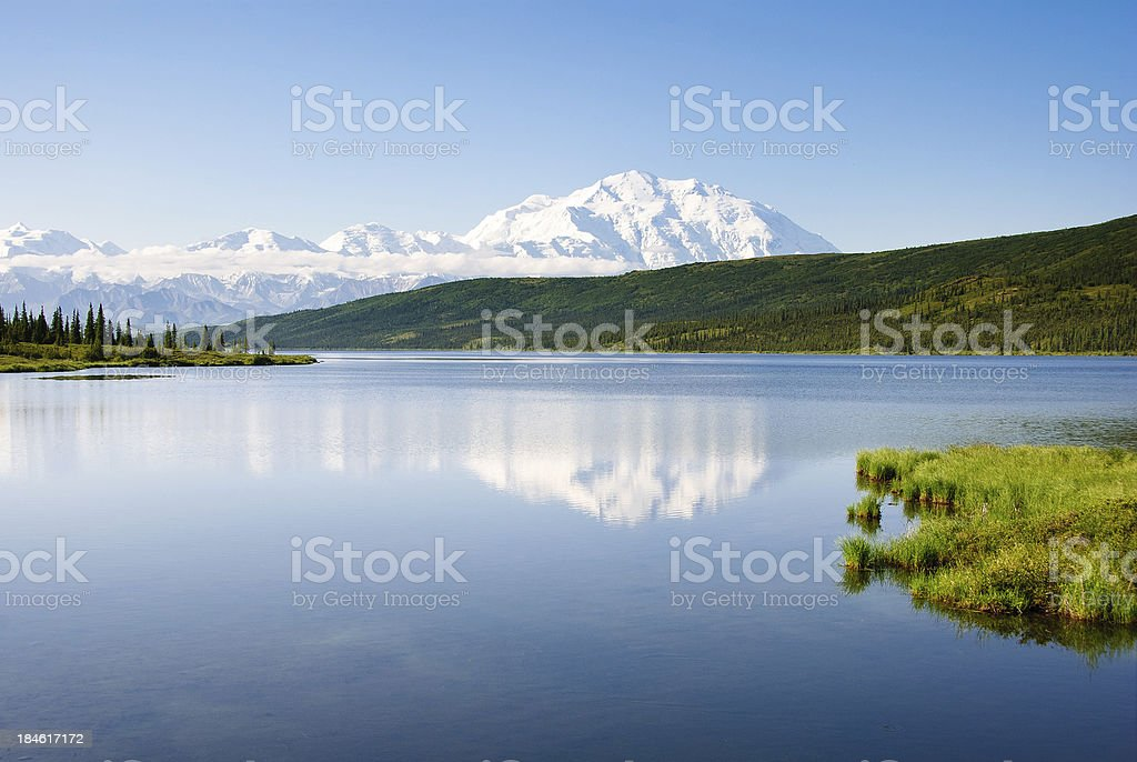 Wonder Lake Reflection stock photo