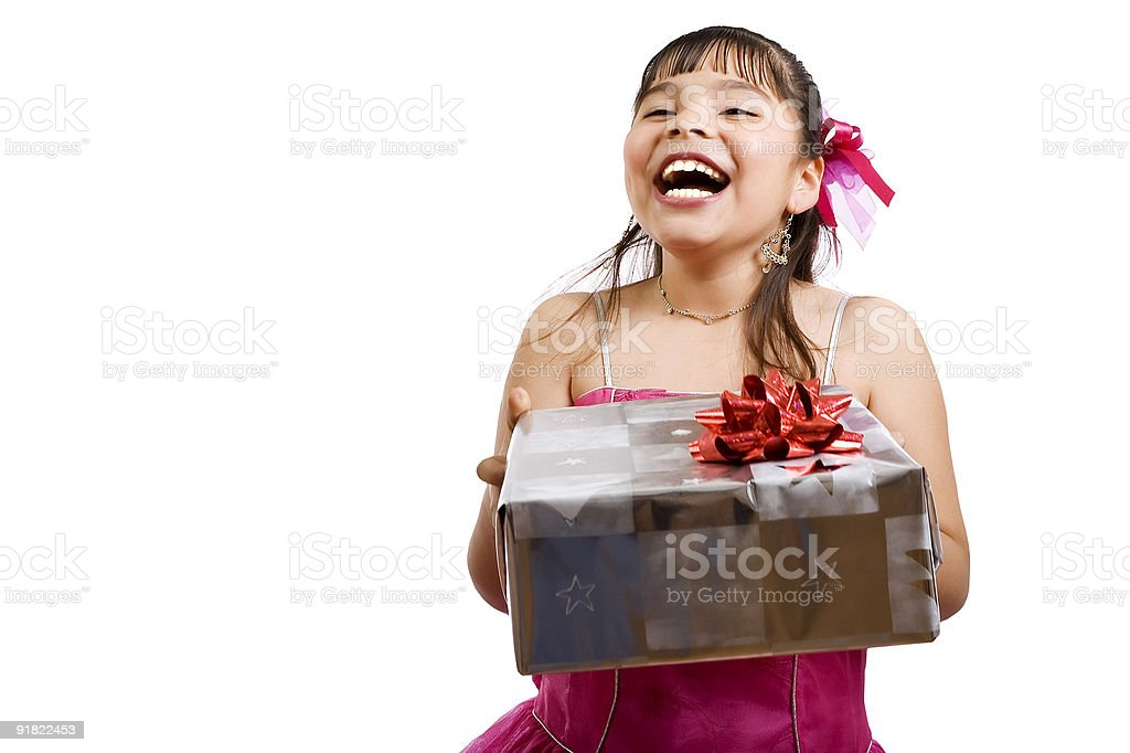 Wonder what I got this time.... royalty-free stock photo