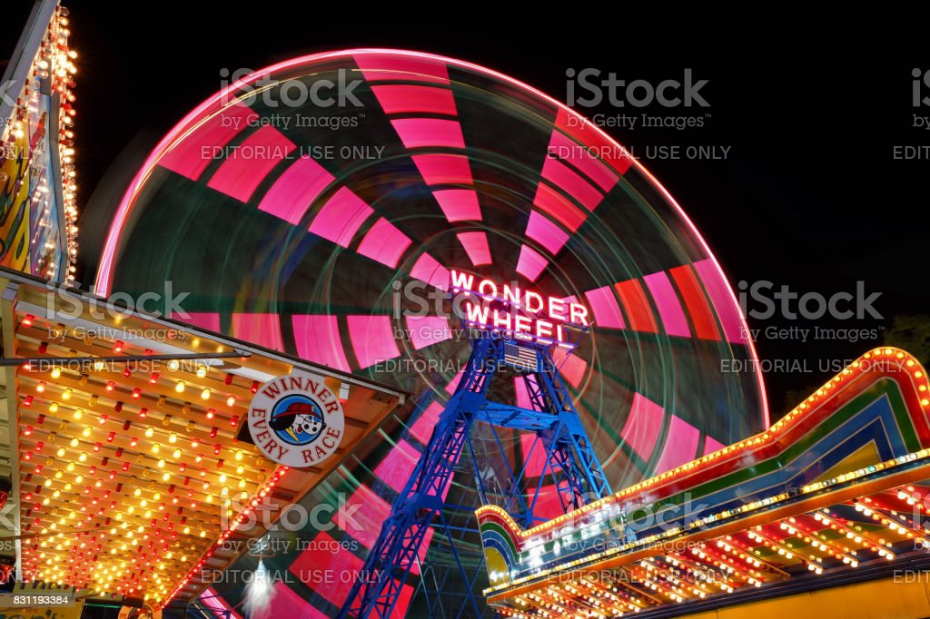 Wonder Wheel. Coney Island. stock photo