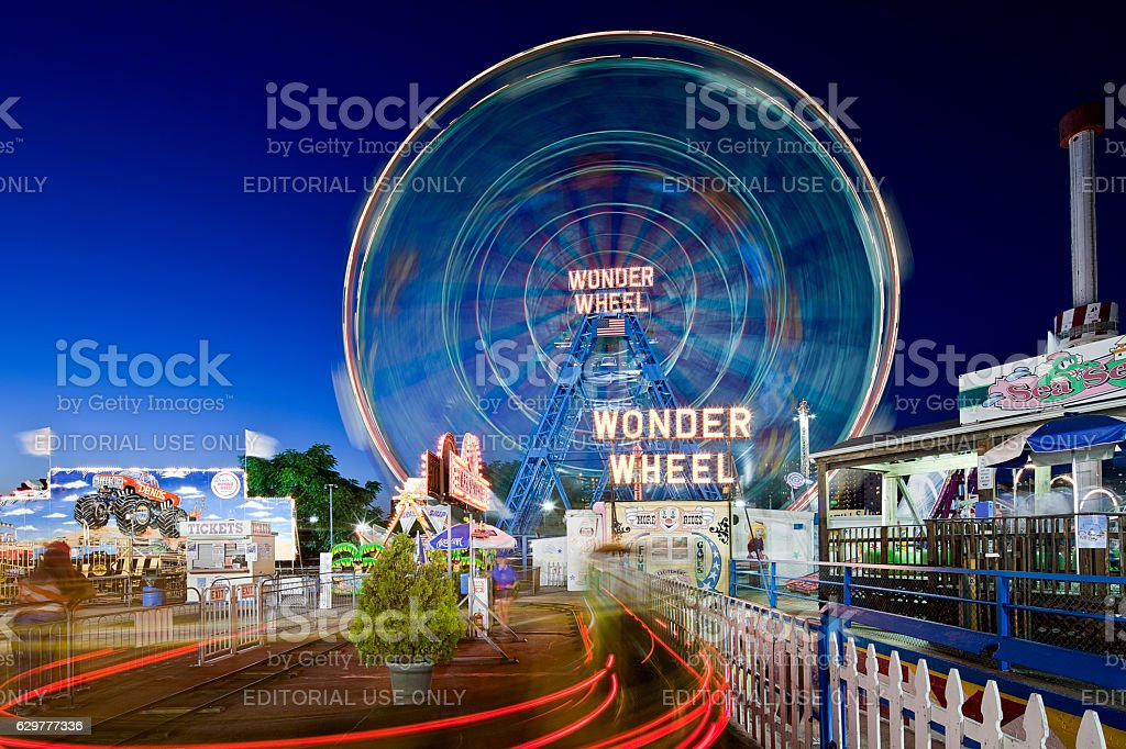 Wonder Wheel stock photo