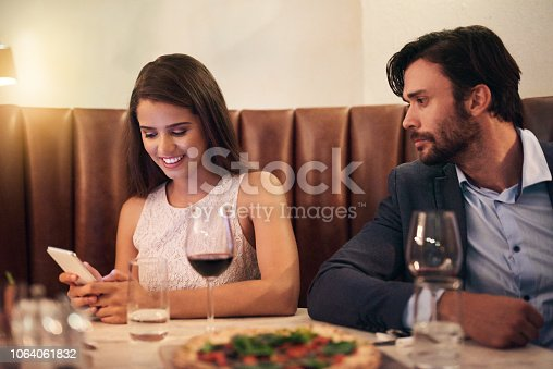 istock I wonder who she's chatting to... 1064061832
