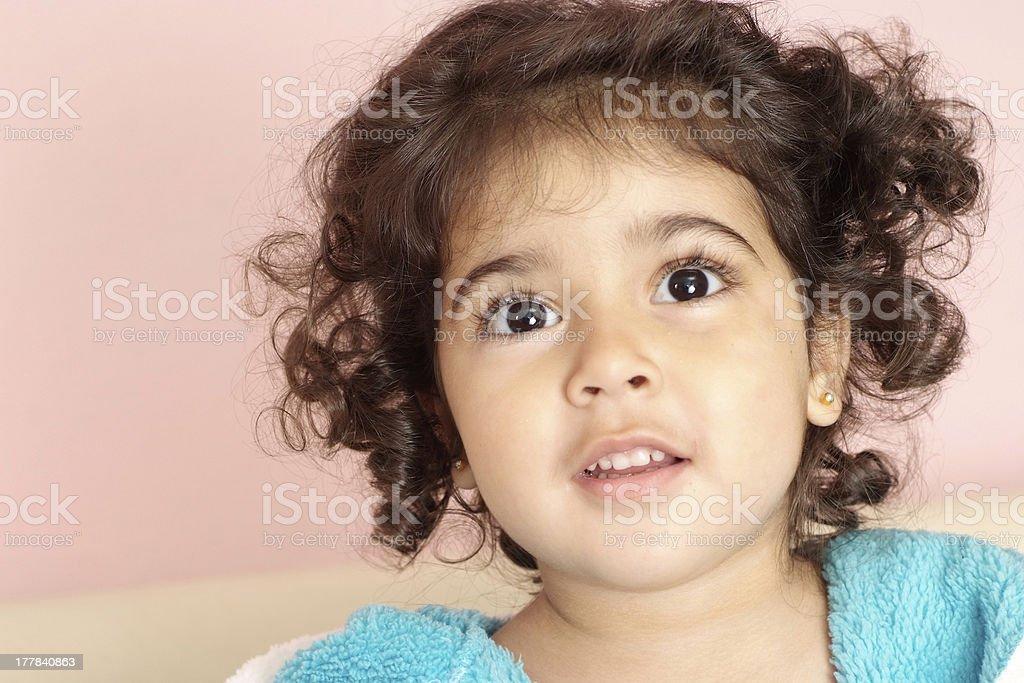 Wondered little girl royalty-free stock photo