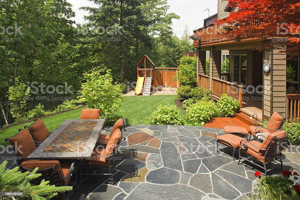 Wonderful Backyard stock photo