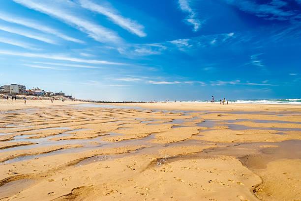 Wonderful beach with sand relief in surf beach – Foto