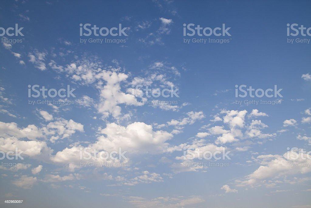 Wonderful blue sky royalty-free stock photo