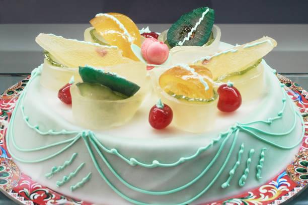 美妙的仙人掌, 西西里島典型的甜蛋糕 - cassata 個照片及圖片檔