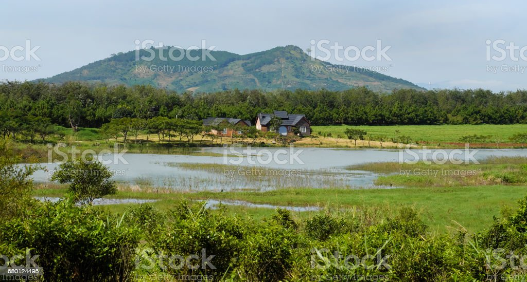 Wonderful Dalat villas close to nature stock photo