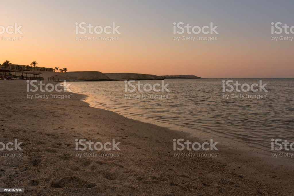 wonderful egyptian beach at sunset foto stock royalty-free